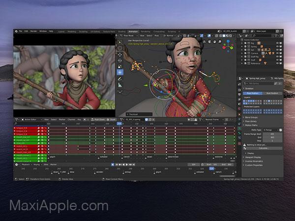 blender 3d 2 macos mac gratuit 01 - Blender 2 Mac - Création et Animation 3D Pro (gratuit)