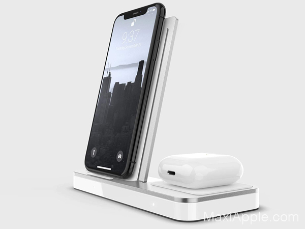 defense duo station chargeur vertical iphone airpods 03 - Defense Duo iPhone, 1er chargeur Vertical sans fil (video)