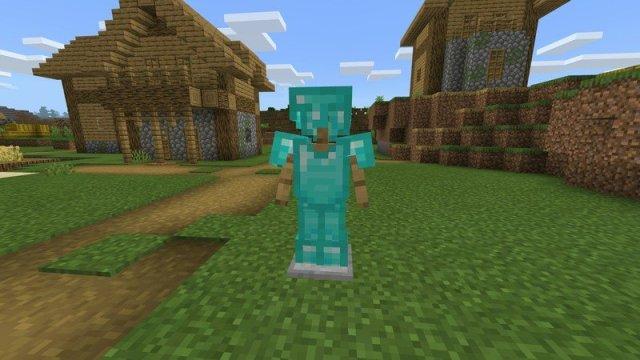 Diamond armor stand