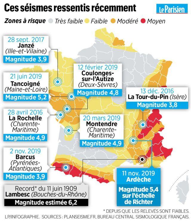 Fort tremblement de terre près de Montélimar : quatre blessés dont un grave