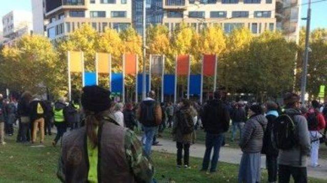 Les manifestants se sont dirigés vers l'Est de la ville à Montpellier / © D. De Barros. FTV