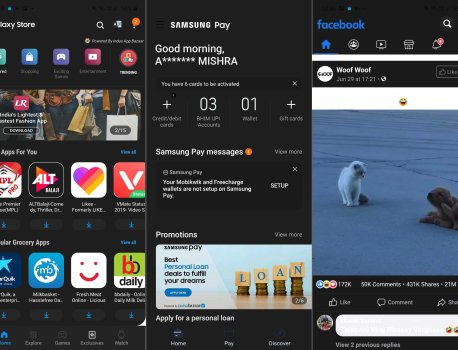 How to force dark mode in all apps on Android 10 on a Galaxy S10/Note 10
