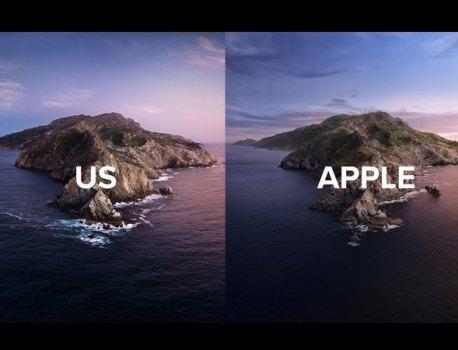 Ils Recréent en Vrai le Fond d'Ecran macOS Catalina (video)