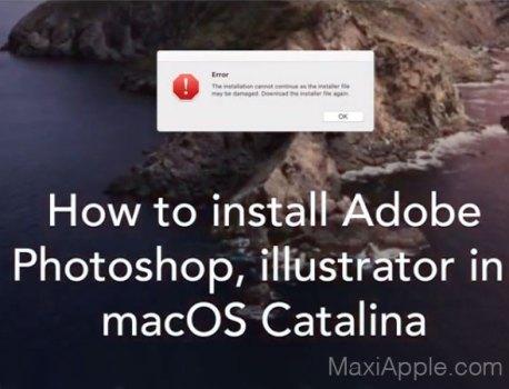 Installer sur Catalina Photoshop et Illustrator CC 2019 (video)