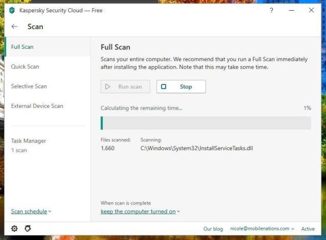 scanning screenshot