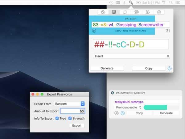 password factory macos mac ios iphon ipad 1 - Password Factory Mac iOS - Générateur de Mots de Passe Sécurisés (gratuit)