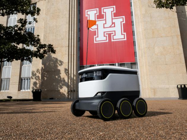 Resto U : des robots autonomes livrent des repas dans les dortoirs de ce campus