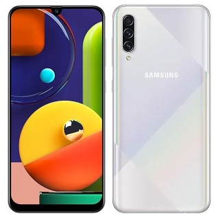 Samsung Galaxy A50s in Prism Crush White color