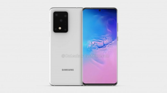 Samsung Galaxy S11+ renders show off punch hole display and a huge camera bump