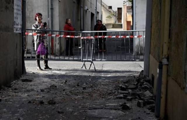 La commune du Teil dans l'Ardèche a été la plus touchée par le séisme de 5,4 qui a frappé lundi le Sud de la France.