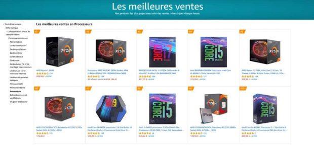 Amazon France - Meilleures ventes processeurs