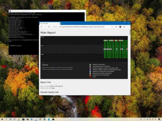 Windows 10 Wi-Fi report