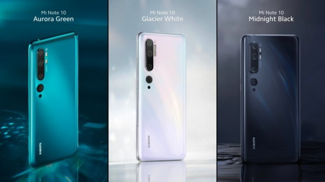 Xiaomi Mi Note 10 is official: the 108MP penta-cam global version of Mi CC9 Pro