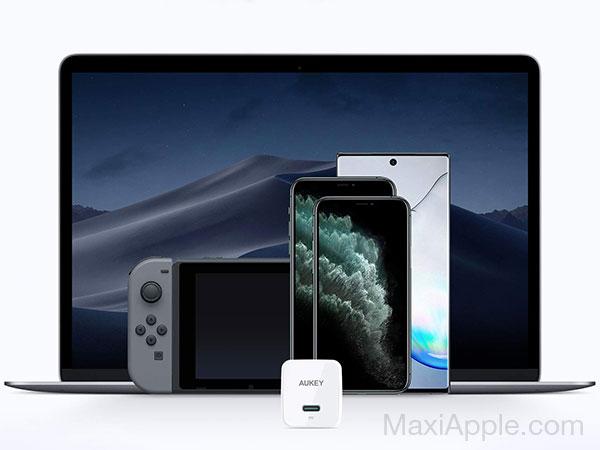 mini chargeur rapide aukey minima 27w usb c iphone macbook 01 - AUKEY Minima, Mini Chargeur USB-C iPhone 3x Plus Rapide