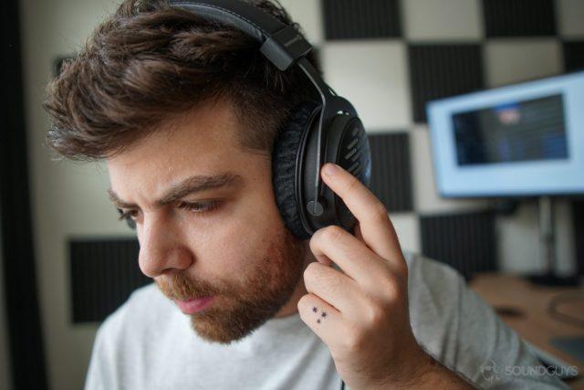 Listening to the Beyerdynamic DT 1990 Pro studio headphones.