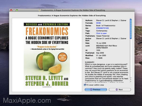 calibre macos mac gratuit 03 - Calibre Mac - Meilleur Gestionnaire de Livres Numériques (gratuit)