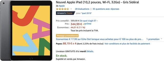 iPad 10,2 pouces Amazon