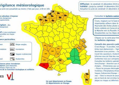 Intempéries : un département placé en alerte rouge pour inondation et 22 en vigilance orange – franceinfo