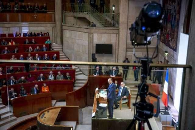 Le premier ministre, Edouard Philippe, lors de son discours dévoilant le détail de la réforme des retraites, devant le CESE, à Paris, le 11 décembre.