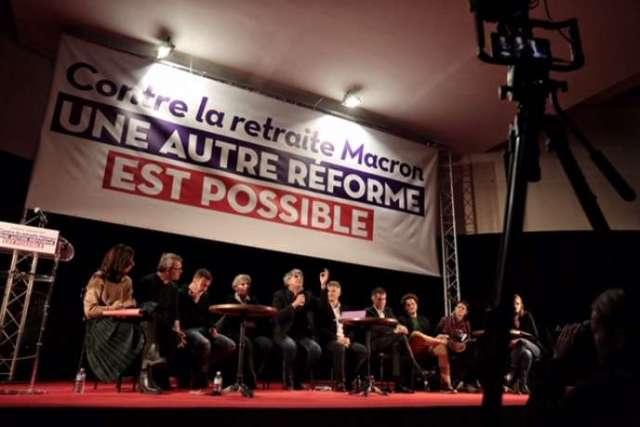 Meeting unitaire de la gauche contre la réforme des retraites, à Saint-Denis, le 11 décembre 2019.