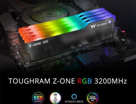 TOUGHRAM Z-ONE RGB, Thermaltake propose 16 Go RGB de DDR4-3200 CL16