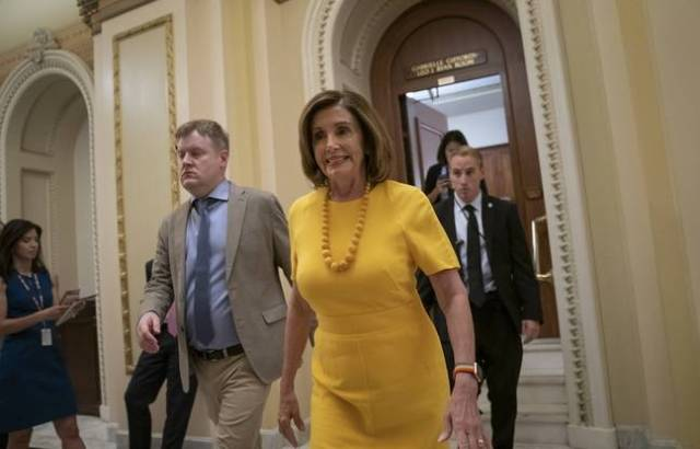 La Speaker de la Chambre et cheffe des démocrates aux Congrès, Nancy Pelosi