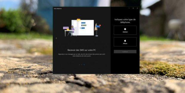 Application Mon Téléphone sous Windows 10