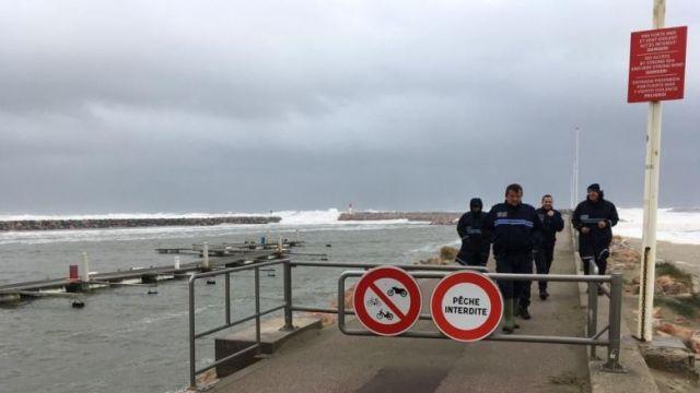 La digue de Canet-en-Roussillon, dont l'accès a été interdit ce mercredi 22 janvier. / © FTV / P. Georget