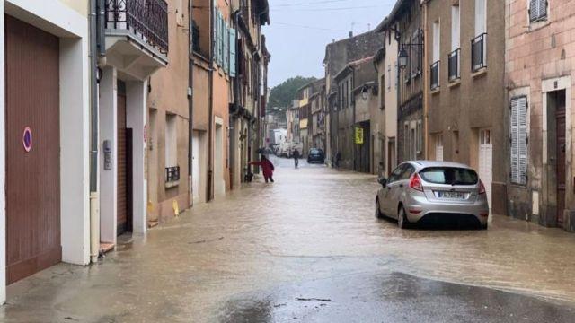 Evacuation de quelques rues à Limoux, le 22 janvier 2020. / © FTV / A. Grellier