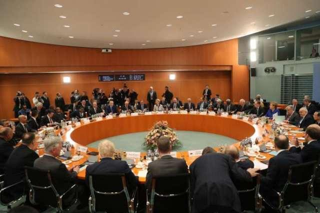 Le sommet pour la Libye sous l'égide de l'ONU, dimanche 19 janvier à Berlin.