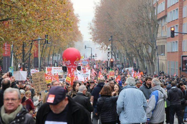 Une nouvelle manifestation contre la réforme des retraites est prévue à Toulouse, jeudi 9 janvier 2020.