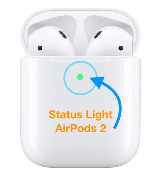 airpods 2 status light