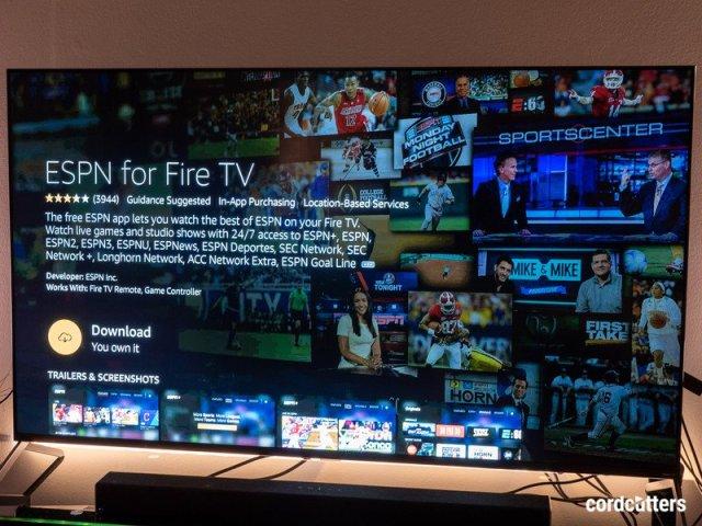 ESPN+ on Amazon Fire TV