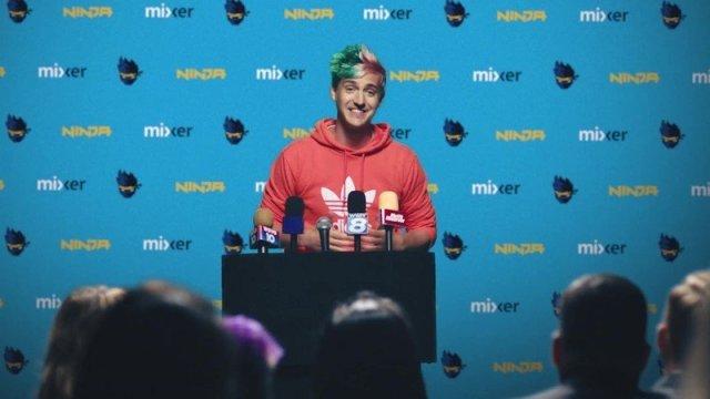 Ninja announcing he is joining Mixer