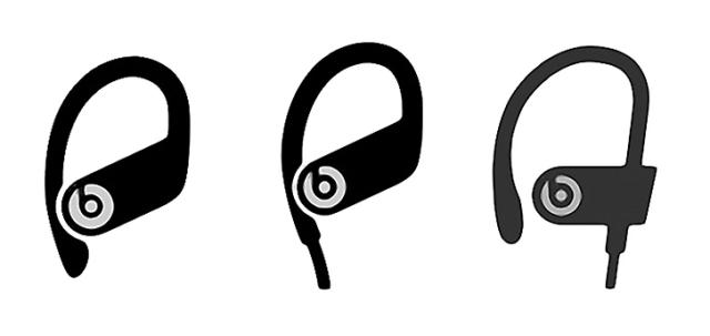 Powerbeats Pro (left) • Powerbeats 4 (middle) • Powerbeats 3 (right)
