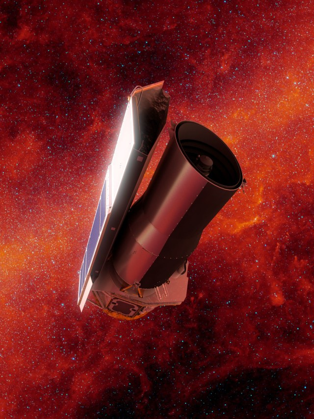 the spitzer telescope in space