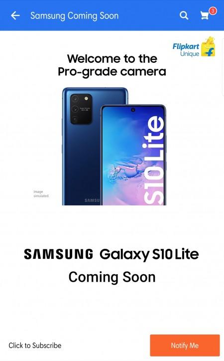 Samsung Galaxy S10 Lite launching soon on FlipKart, price rumored to start at INR 40,000