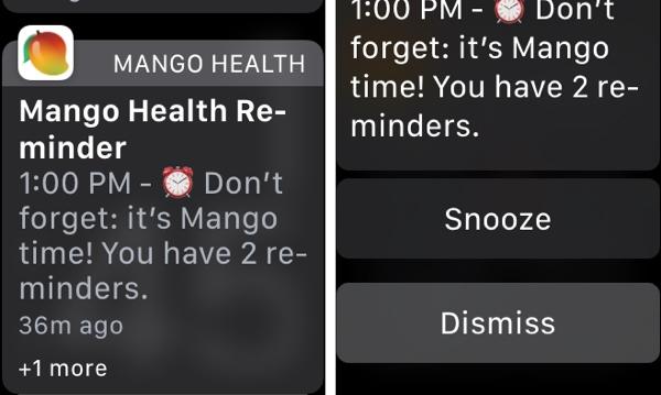 Apple Watch Mango Health Alert
