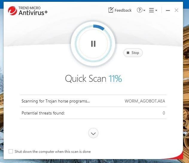 screenshot virus scan