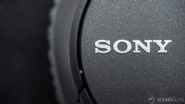 Best Bose speakers: Sony WH-CH700N: Close-up image of the Sony logo on one of the ear cups.