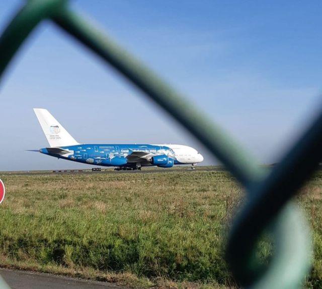 L'avion arrivé de Chine ce 21 février s'est posé à 10H30 à Roissy. / © France Télévisions