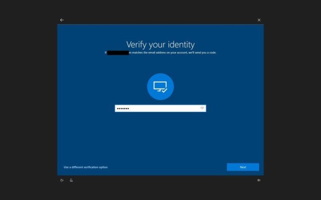 Confirm email verify code to change password