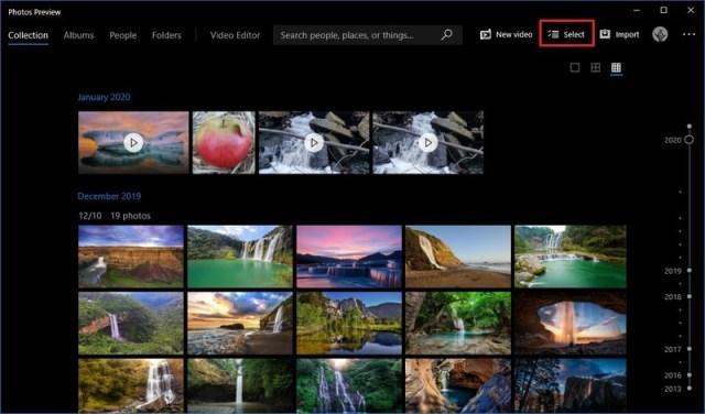 Photos Select Video Multiple Trims option