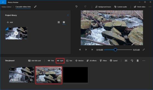 Photos video split second clip