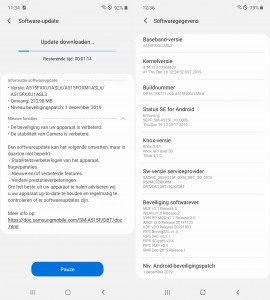First update for the Samsung Galaxy A51