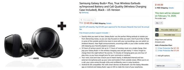 Samsung Galaxy Buds+ Pre-Order Amazon