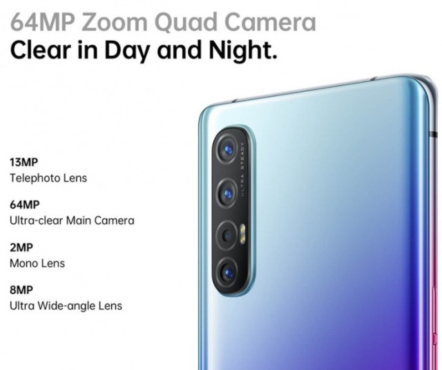 Oppo Reno3 Pro camera setup detailed ahead of launch, will have three color options