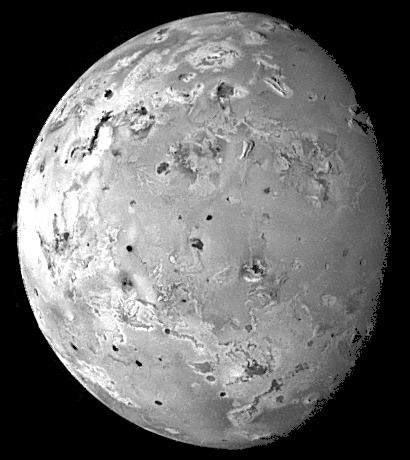 volcanopocked surface of Io