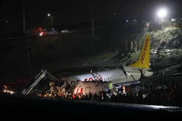 Le Boeing 737, en provenance de la ville d'Izmir, est sorti de piste lors de l'aterrissage à Istanbul.