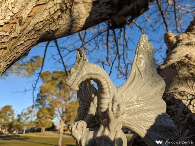 Dragon in tree